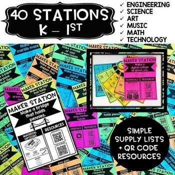 Maker Stations for Makerspaces BUNDLE {K-5th Grade} - Distance Learning