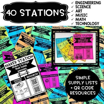 Maker Stations for Makerspaces {K-1st}