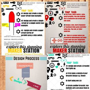 Makerspace Creative Task Cards **Real Time Saver-Just Print**