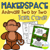 Makerspace Animals Two By Two Task Cards