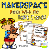 Makerspace Bear With Me Task Card Freebie