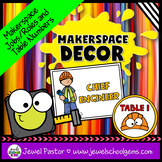 MakerSpace Decor (MakerSpace Roles Posters and Table Numbers)
