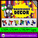 MakerSpace Decor (STEM/STEAM/STREAM Signs)