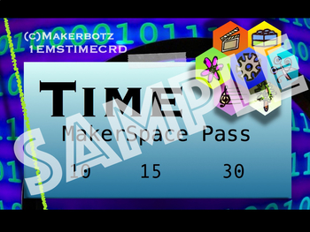 MakerSpace MakerBotz Time Card