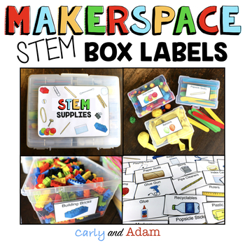 Makerspace STEM Labels EDITABLE