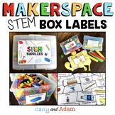 Makerspace STEM Supplies Labels EDITABLE