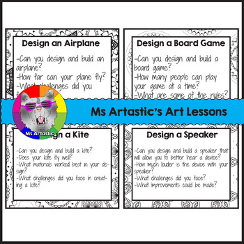 Makerspace: 32 Makerspace or STEM Task Cards