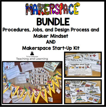 Makerspace BUNDLE:Start-Up AND Procedures, Engineering Design Process, and More