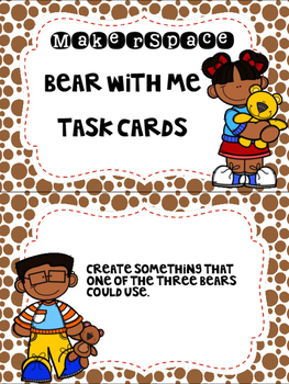 Makerspace: Bear With Me STEM Freebie