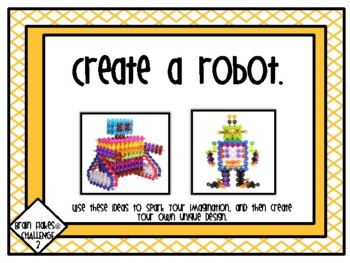 Makerspace: Brain Flakes Challenge Task Cards