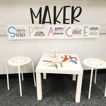 Makerspace Bulletin Board Set
