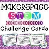 Makerspace STEM Challenge Cards {44 STEM Challenges + 4 Editable Cards}