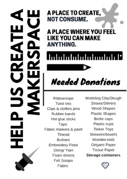 Makerspace Donation Flyer