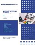 Makerspace Equipment Mini Poster Pack: 3D printer, lasercu