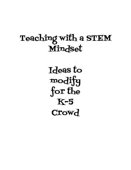 Makerspace Ideas for the K-3 Crowd- UPDATED!