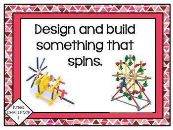 Makerspace: K'nex Challenge Task Cards