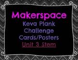 Makerspace: KEVA Plank Challenge Task Cards Posters STEM