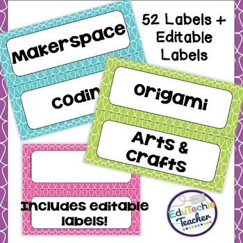 Makerspace Labels and Banner {+ Editable Makerspace Labels}