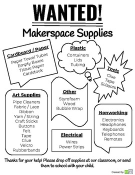 Makerspace Material Request Letter