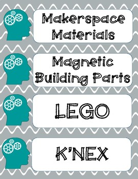 Makerspace Materials:  Posters, Labels, & Signs