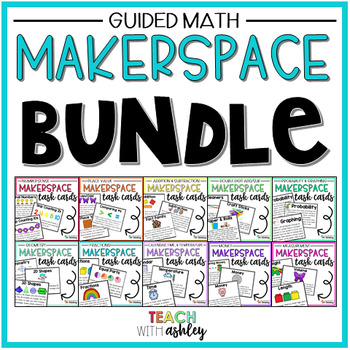 BUNDLE Guided Math Makerspace Task Cards