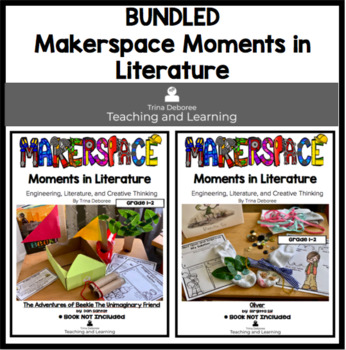 Makerspace Moment in Literature Character Bundle