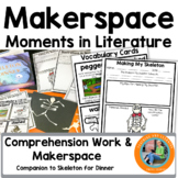 Halloween Makerspace Activities in Literature:{Skeleton Fo