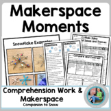 Makerspace Moments in Literature: Winter Snowflake  {Snow}