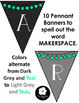 Makerspace Pennant Banner in GREY/TEAL
