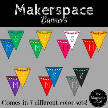 Makerspace Pennant Banners BUNDLE