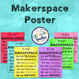 Makerspace Posters {Makerspace or STEM Lab Signs on Watercolor}