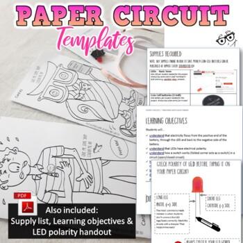 MAKE: *Paper Circuit Design Cards*Makerproject &Time-Saver+Video demonstration*