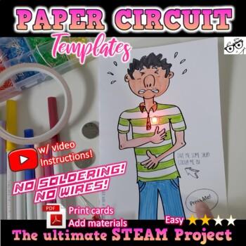 MAKE: *Paper Circuit Design Cards* **Fun Makerproject &Tim