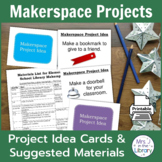 Makerspace Project Prompt Task Cards & Materials List