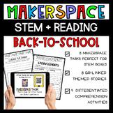 Makerspace STEM Reading Comprehension Creation Station {Ba