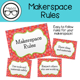 Library Signage: Makerspace Rules