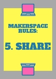 Makerspace Rules Poster - Share