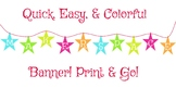 Makerspace (Maker Space) STAR Banner or Sign! Print & Go!