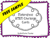 Makerspace STEM Challenge Cards- FREEBIE!