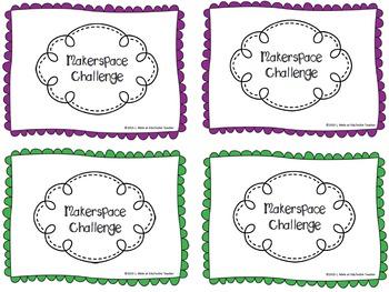 Makerspace STEM Challenge Cards- FREEBIE!
