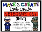 Makerspace STEM Make and Create Task Cards {Veteran's Day} FREEBIE