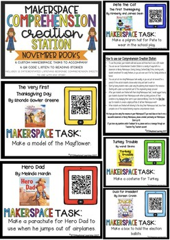 Makerspace STEM Reading Comprehension Creation Station {November}