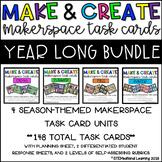 Makerspace STEM Task Card YEAR LONG Bundle {Spring, Summer