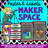 Makerspace Signs, Labels and Posters for your Classroom (S