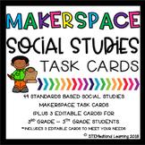 Makerspace Social Studies STEM Challenge Task Cards 3rd-5th Grades