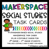 Makerspace Social Studies STEM Challenge Task Cards 3rd-5t