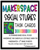 Makerspace Social Studies STEM Challenge Task Cards Kindergarten-2nd Grade