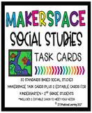 Makerspace Social Studies STEM Challenge Task Cards Kinder