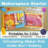Makerspace Starter: GoldieBlox (TM) Circulating Kit Materials