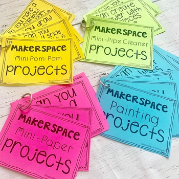 Makerspace Task Cards & Printables with EDITABLE FILES